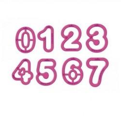 Tagliapasta numeri da 0 a 9 -  5,2xh2,2 cm. - Decora