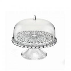Alzata con campana piccola trasparente Tiffany - Guzzini