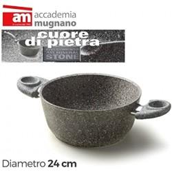 Casseruola 2/m. cm.24 Cuore di pietra - Accademia Mugnano