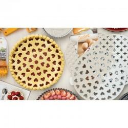 Griglia tagliapasta per crostata Cuori dim.30 - Decora