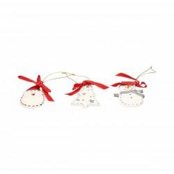 Set 3 applicazioni in porcellana Christmas - Rubino- Andrea Fontebasso