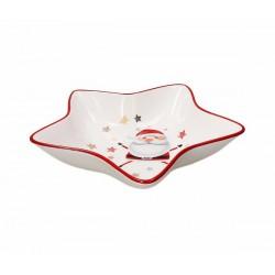 Fruttiera a Stella di Natale in Ceramica D.32 Red Cocktail - Andrea Fontebasso
