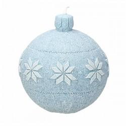 Candela Sfera azzurra cm.9 Christmas soft - Andrea Fontebasso