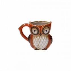 Tazza ceramica Gufo arancio...
