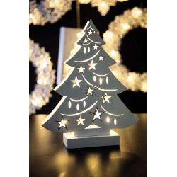 Albero legno con led christmas glitter h.23 - Andrea Fontebasso