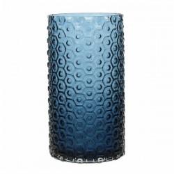 Deco vaso cil.cm.13,5 h26 gl design blue - Tognana