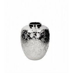 Sterling vaso bombato cm.22x27 ceramica argento - Tognana